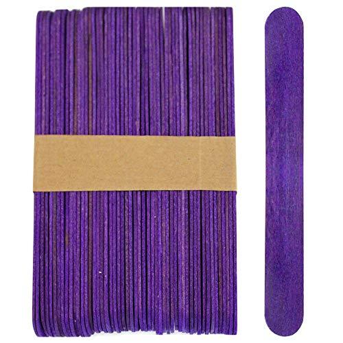 100 Wood Jumbo Craft Sticks Purple -