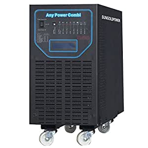GTPOWER 5000W Peak 15000W APV Low Frequency Pure Sine Wave Inverter DC 48V AC 220V/230V/240V Battery Charger MPPT 40Amp Solar Charger Controller LCD Display Remote Control AC/Battery Priority.48KG!!