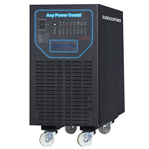 GTPOWER 4000W Peak 12000W APV Low Frequency Pure Sine Wave Inverter DC 48V AC 110V/220V/230V/240V Battery Charger MPPT 40Amp Solar Charger Controller LCD Display AC/Battery Priority Selectable.38KG!! ()