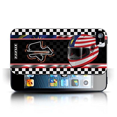 Etui / Coque pour Apple iPhone 5/5S / Malaisie conception / Collection de F1 Piste Drapeau