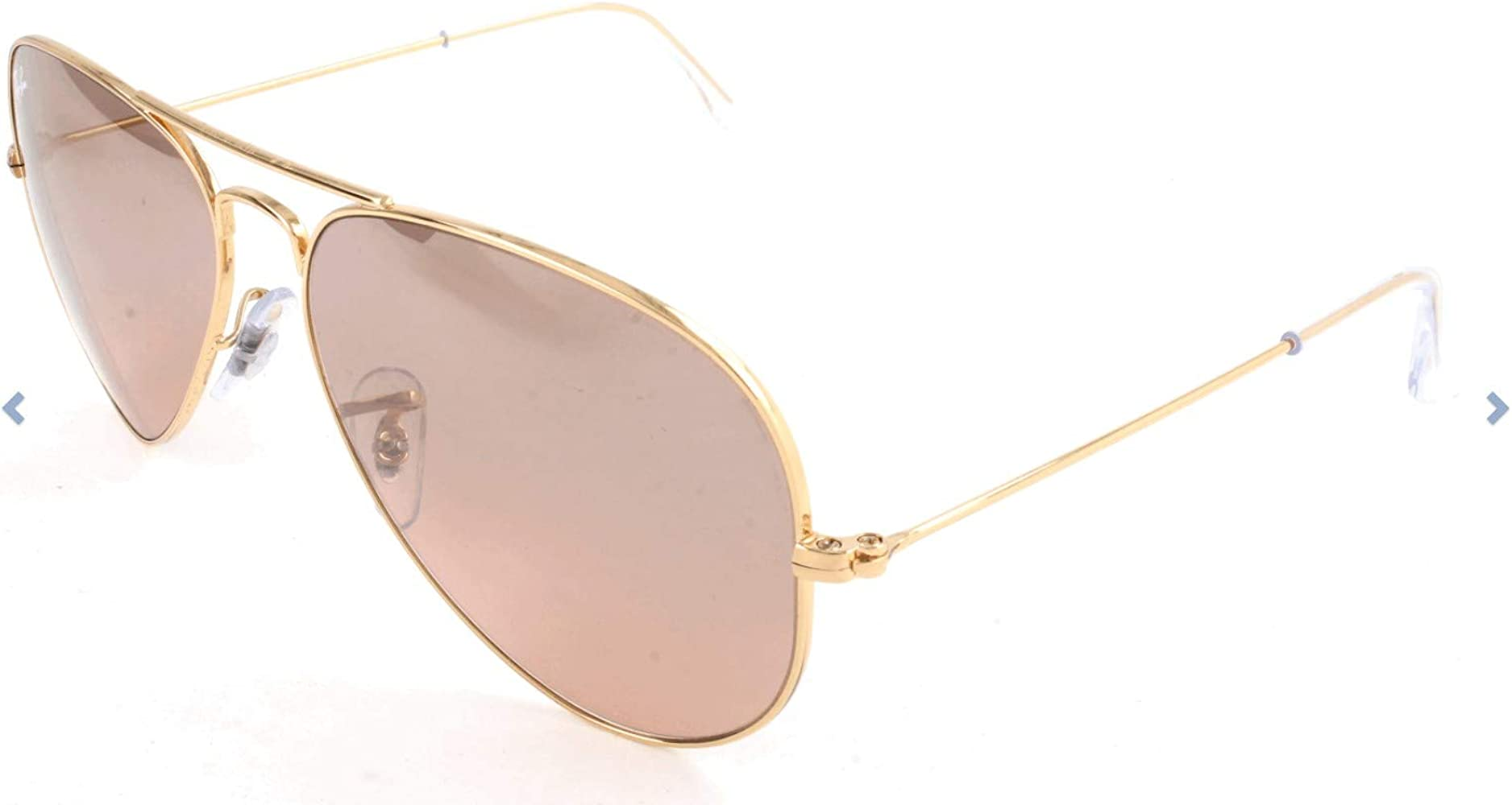 Ray-Ban AVIATOR LARGE METAL (RB 3025 001/33 55): Amazon.es: Ropa y ...