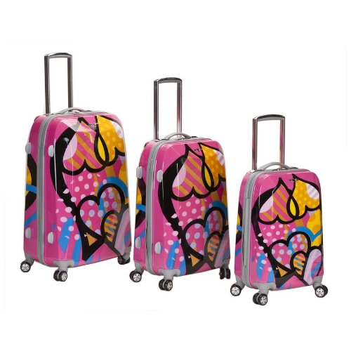 Rockland LOVE 3-Piece Spinner Luggage Set By Fox Luggage by Fox Luggage