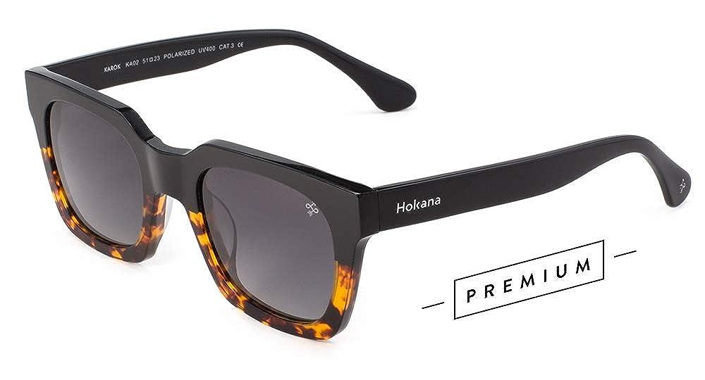 Hokana Sunglasses BLACK CAREY - DARK KAROK   KA02: Amazon.es ...
