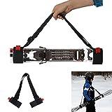Jely Ski Snowboard Carrier Sling, Portable Adjustable Durable Skateboard Shoulder Straps, Black
