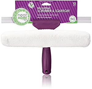 """Unger neatHome Microfiber Combi: 2-in-1 Squeegee and Window Scrubber, 10"""""""
