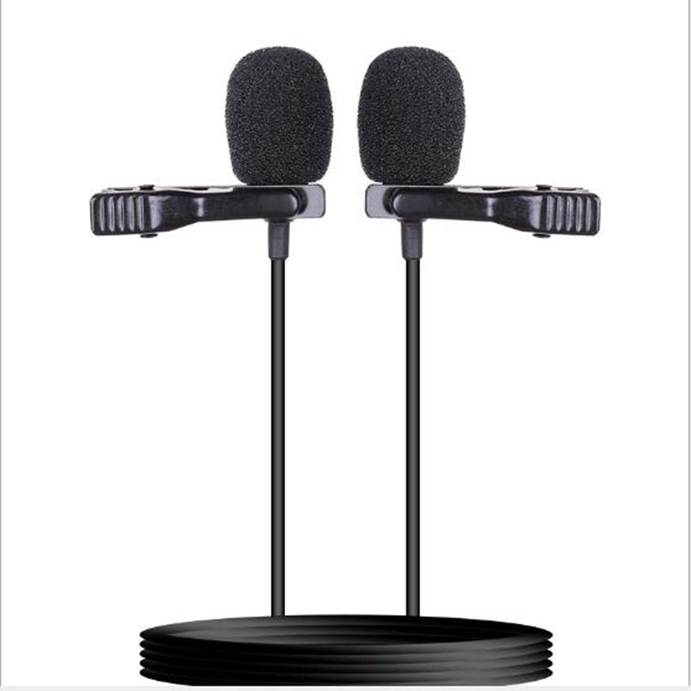 ZXWNB Lavalier Mobile Phone Microphone, Mini Mobile Phone Recording K Song Double Lavalier Microphone, Suitable for Camera Android Mobile Phone Digital Tablet Laptop by ZXWNB