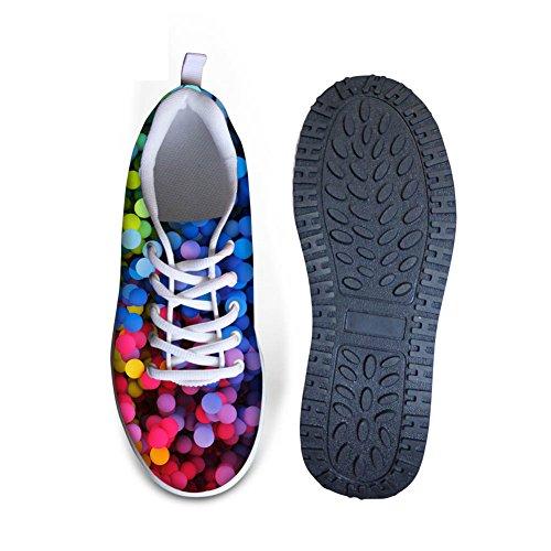 Knuffels Idee Mode Damessneakers Fitness Wandelschoenen Kleurrijk 6
