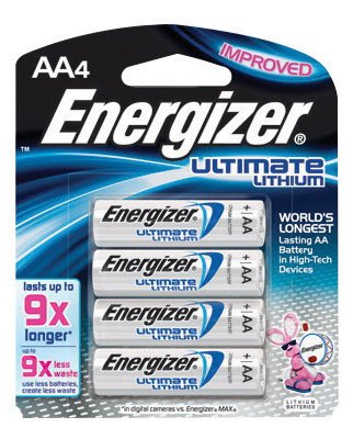 Energizer® Ultimate® e2® 1.5 Volt AA Cylindrical Lithium
