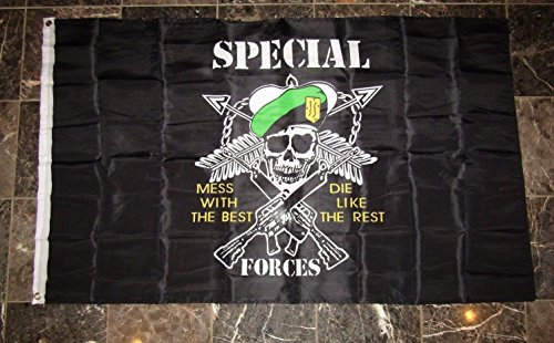 ALBATROS 3 ft x 5 ft Special Forces Green Beret Mess with The Best Die Like The Rest Flag for Home and Parades, Official Party, All Weather Indoors Outdoors