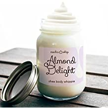Triple Whipped Shea Butter (almond delight, 16 ounces (mason jar))