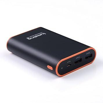 Lumsing Batería externa 10050mAh, Cargador portátil externo, Power bank para iPhones, iPads, Samsung Galaxy, Android y otros Smartphones (negro)