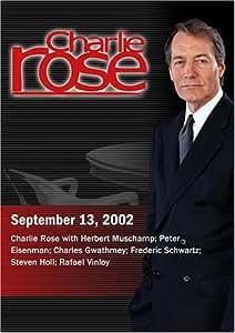 Charlie Rose with Herbert Muschamp; Peter Eisenman; Charles Gwathmey; Frederic Schwartz; Steven Holl; Rafael Vinloy (September 13, 2002)