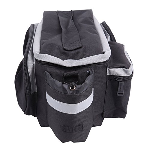 PanelTech Bicycle Cycling Sport Rear Rack Seat Trunk Bag Bike Mountain Handbag Storage Expanding Carry Strap Portable Shoulder Saddle Bag with Water Holder by PanelTech (Image #2)
