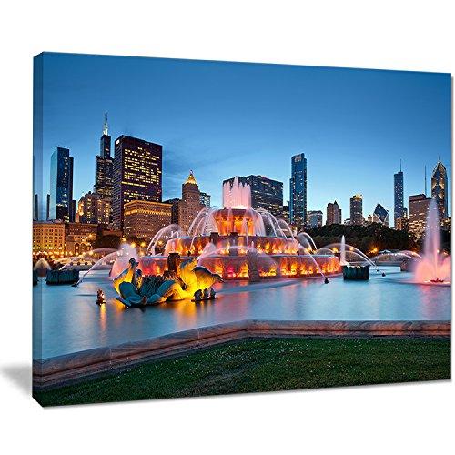 (Designart PT10101-20-12 Colorful Buckingham Fountain-Cityscape Canvas print-20x12, 12