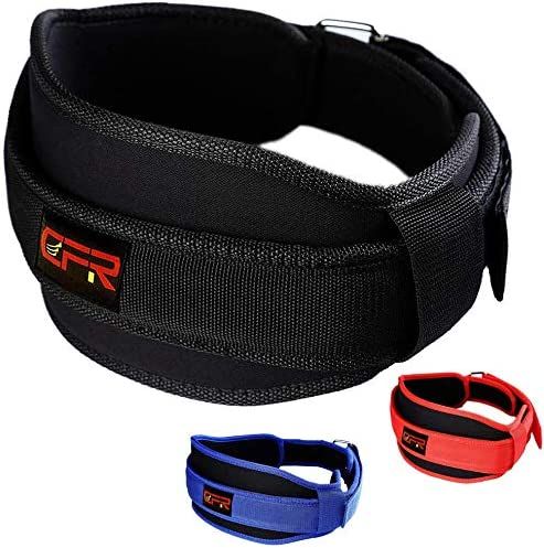 FITTOO Weight Lifting Belt for Crossfit, Weight Training, Fitness Gym, Nylon Lower Back Lumbar Support for Weight Power Lifting, Heavy Duty, Core Injury Prevent, Ultralight Foam Fit Women Men