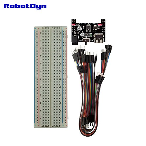 RobotDyn – KIT: Breadboard + Power Supply 5V/3.3V (1A) + 60 jumper wires. For Arduino, Raspberry Pi, STM32