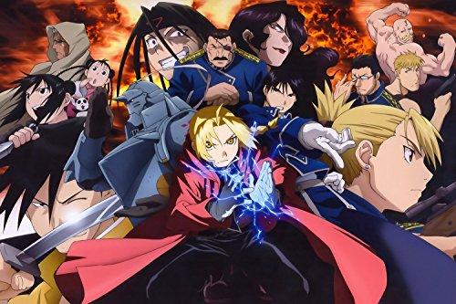 Fullmetal Alchemist Brotherhood Characters Anime Art Poster