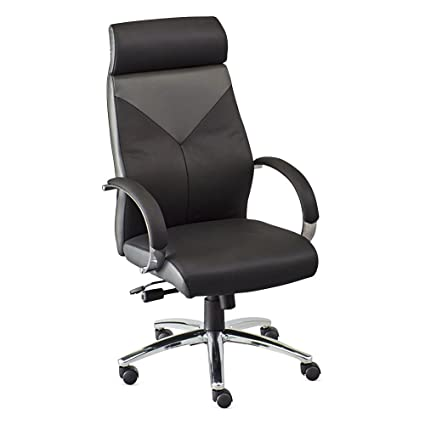 Peachy Amazon Com Highland Two Tone Leather Executive Chair Black Pdpeps Interior Chair Design Pdpepsorg