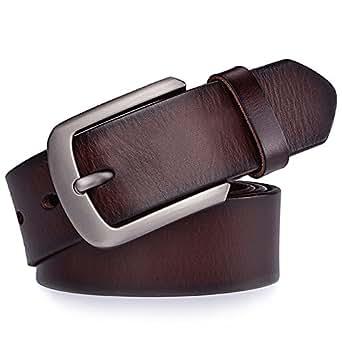 Imagen no disponible. Imagen no disponible del. Color  JingHao Cinturones  para hombres Cinturón de cuero genuino ... a83e33390185