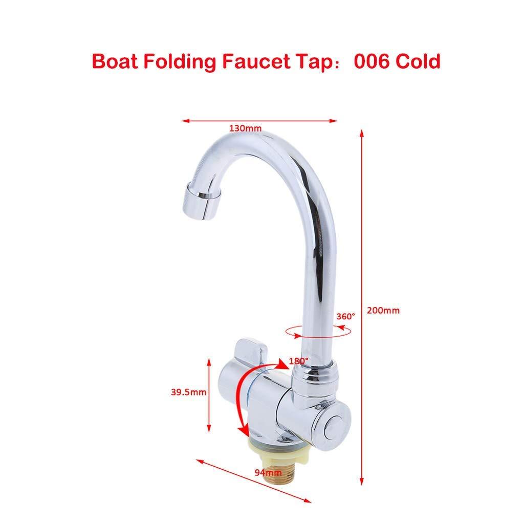 Juler Marine Boat Rv Hot Cold Pool Kitchen Sink Bathroom Wash Faucet  006