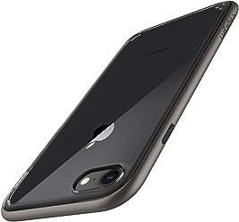 【Spigen】 スマホケース iPhone8 ケース / iPhone7 ケース 背面 クリア バンパー ケース 二重構造 米軍MIL規格 耐衝撃 ネオ・ハイブリッド クリスタル2 054CS22363 (ガンメタル)