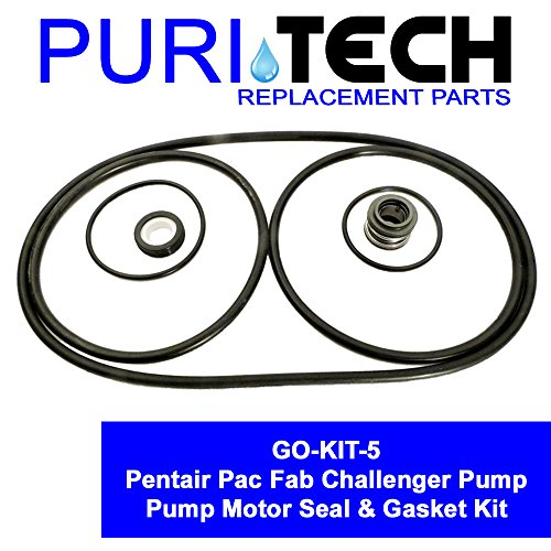 Puri Tech Pool Motor Seal & Gasket Kit GO KIT for Pentair Pac Fab Challenger Pump (Seal Challenger)