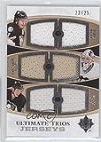 Evgeni Malkin; Marc-Andre Fleury; Jordan Staal #22/25 (Hockey Card) 2010-11 Ultimate Collection Ultimate Trios Jerseys [Memorabilia] #UTJ-5