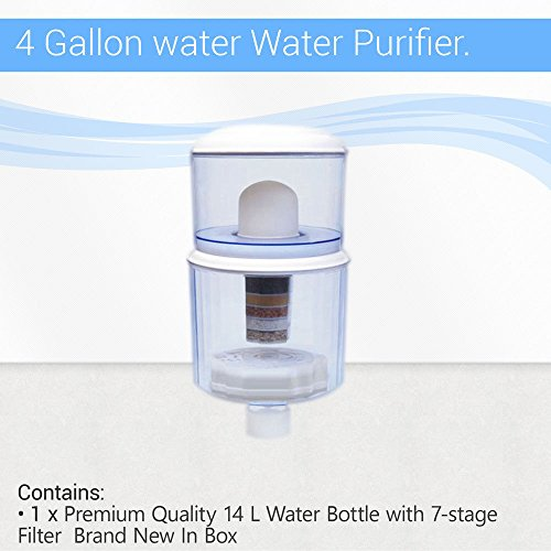 4 Gallon water filter purifier bottle ceramic PH mineral for cooler dispenser by Max Water