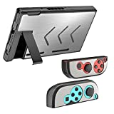 MoKo Case for Nintendo Switch, Segment Design Protective Slim Hard Cover Switch Shell Set, Shock-Absorption and Anti-Scratch for Nintendo Switch Console & Joy Con Controllers 2017 – Silver