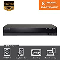SDR-B74303N (2TB HDD) - Samsung Wisenet 8 Ch 1080p HD DVR from SDH-B74083H