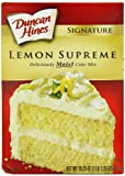 Duncan Hines Signature Lemon Cake Mix, 18.25-Ounce Boxes (Pack of 6)