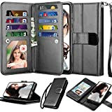 Njjex Wallet Case For Samsung Galaxy A70, For 6.7' Galaxy A70 Case, [9 Card Slots] PU Leather ID Credit Holder Folio Flip [Detachable][Kickstand] Magnetic Phone Cover & Lanyard For Samsung A70 [Black]