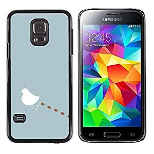 Paccase / SLIM PC / Aliminium Casa Carcasa Funda Case Cover para - Art Minimalist Blue Pastel White - Samsung Galaxy S5 Mini, SM-G800, NOT S5 REGULAR!