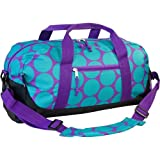 Wildkin Overnighter Duffel Bag, Features Moisture-Resistant Lining and Padded Shoulder Strap, Perfect for Sleepovers, Sports Practice, and Travel – Big Dots Aqua Review