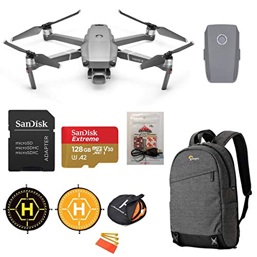 DJI Mavic 2 Pro Drone (3-Axis Gimbal, Hasselblad 20MP Camera) Starter Bundle with Extra Battery, Backpack, ARC White…
