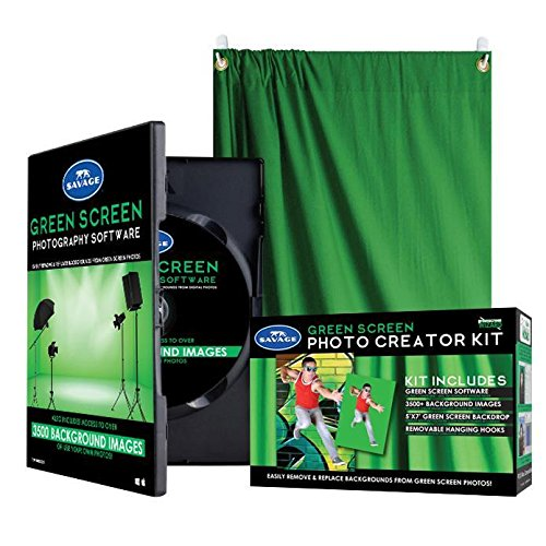 Savage Green Screen Photo Creator Kit with Digital Software (Green Screen Photo Software)
