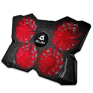 KLIM Wind – Refroidisseur Ordinateur Portable + Le Plus Puissant + Refroidissement Ultra Rapide + 4 Ventilateurs…