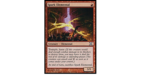 Spark Elemental Foil 10th Tenth Edition Mtg Magic the Gathering LP