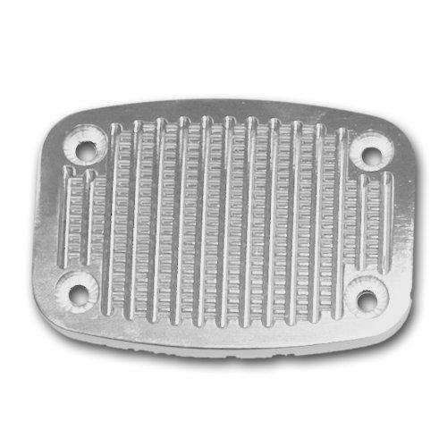 - Drake Off Road C6TZ-2457-ABL Billet Aluminum Brake and Clutch Pedal Cover