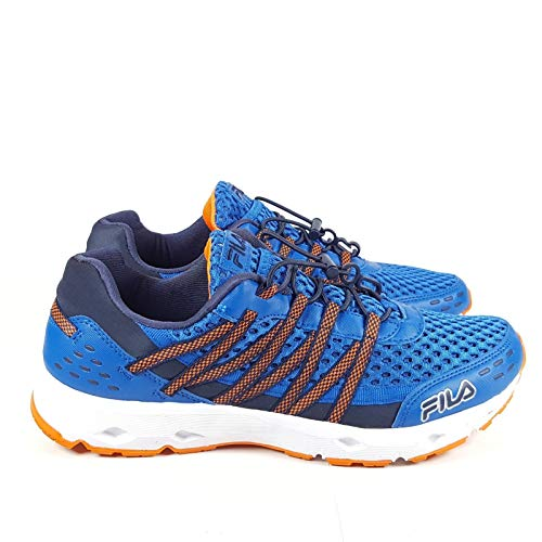 Fila Men's Sorrento Trail Running Sneaker EVA Comfort Footbed Shoe, Blue/Orange, Size 11.5