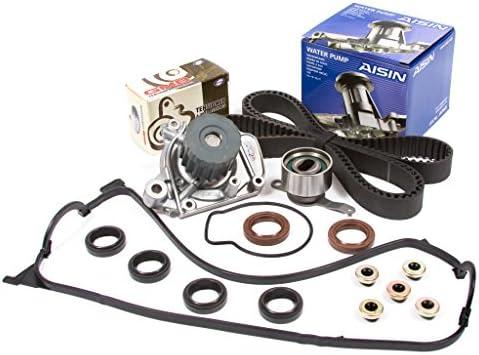 Evergreen tbk224vca2 Honda del Sol 1.6L D16Y7 correa de distribución Kit válvula tapa de la culata Aisin Bomba de agua