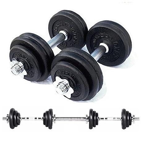 Mancuernas Body Revolution. Juego de mancuernas de hierro fundido, ajustables (15 a 50 kg), tamaño 40kg: Amazon.es: Deportes y aire libre