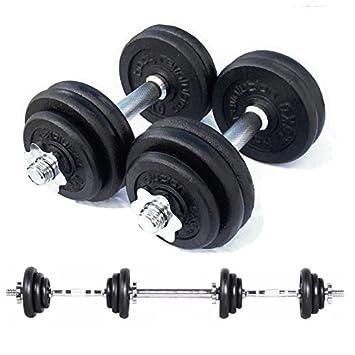 Cuerpo revolución de hierro fundido juego de mancuernas para gimnasio en casa, culturismo, fitness y Fitness (15kg a 50 kg), 50kg: Amazon.es: Deportes y ...