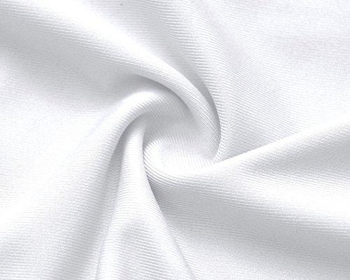 T ZiXing Courtes Chemisier Femme Col V Shirt Manches Blouse Blanc Nu Hauts Dos qgg6tfB