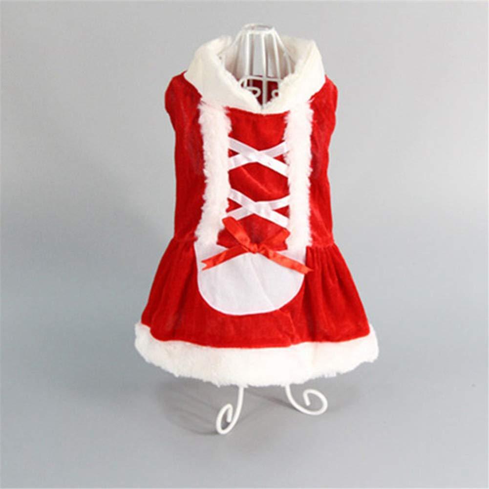 Vestiti Rossi del Cane di Natale Costumi del Doggy della Santa Vestiti Vestiti dell'animale Domestico dell'Abito per i Piccoli Cani Nuovo Disegno Smoro