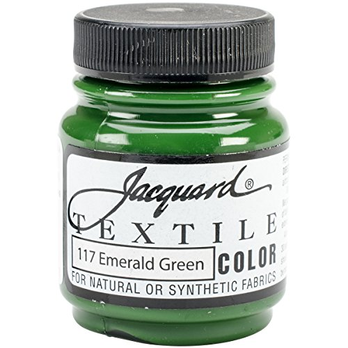Jacquard Products Textile Color Fabric Paint 2.25-Ounce, Emerald Green (Best Emerald Green Paint Colors)