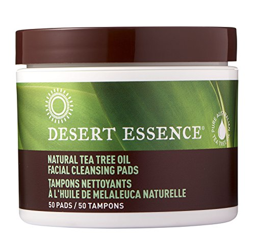 Tea Tree Oil Eco Harvest - Desert Essence Tea Tree Oil Facial Cleansing Pads (2pk) 50 Count