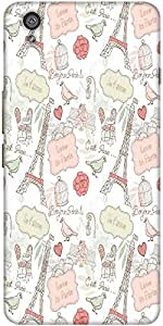 Snoogg Love In Paris Designer Protective Back Case Cover For One Plus X