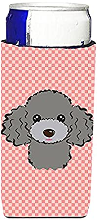 Checkerboard Blue Bichon Frise Wine Bottle Beverage Insulator Hugger BB1155LITERK Caroline's Treasures