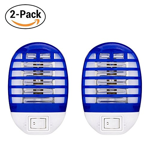 Hovillage Bug Zapper Electronic Insect Killer Mosquito Killer Lamp Eliminates Most Flying Pests! Night Lamp (2, Blue/White)
